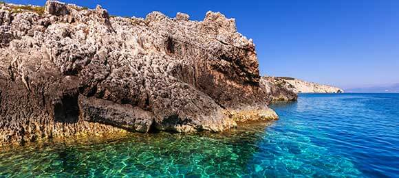 zeezicht griekse kust