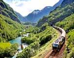 trein in de Noorse bergen