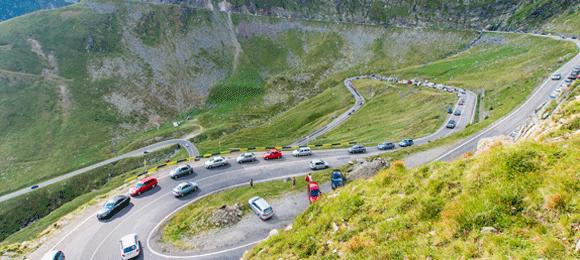 wegen in Roemenë op de berg