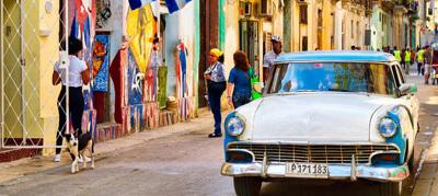 typische straat in havana