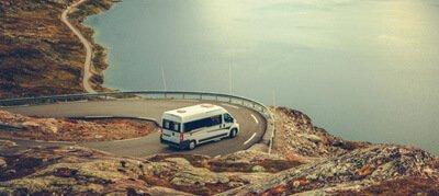 rijden met mooi uitzicht