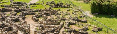 Het hoogtepunt van Sardinië's verdedigingswerken Nuraghe Su Nuraxi